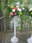 Spring Wedding Ceremony Pieces; Peonies, Garden Roses, Lillies, Hydrangea