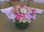 Spring Wedding Dining Table centerpiece; Peonies, Roses, Ranunculus, Tulips & Grasses