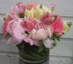 Spring Wedding Centerpiece; Peonies & Tulips