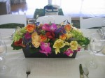 Spring Wedding Bridal Party Table Centerpice; Colorful Mix