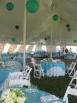Turquoise Wedding; Inside Reception Tent