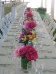 Spring Wedding Centerpieces; alternating designs