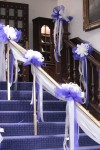 Deep Blue Wedding; Bows transported from Church to Reception Venue