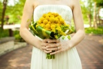 Garden Wedding Bridal Bouquet; Billy Balls & Bupluerum